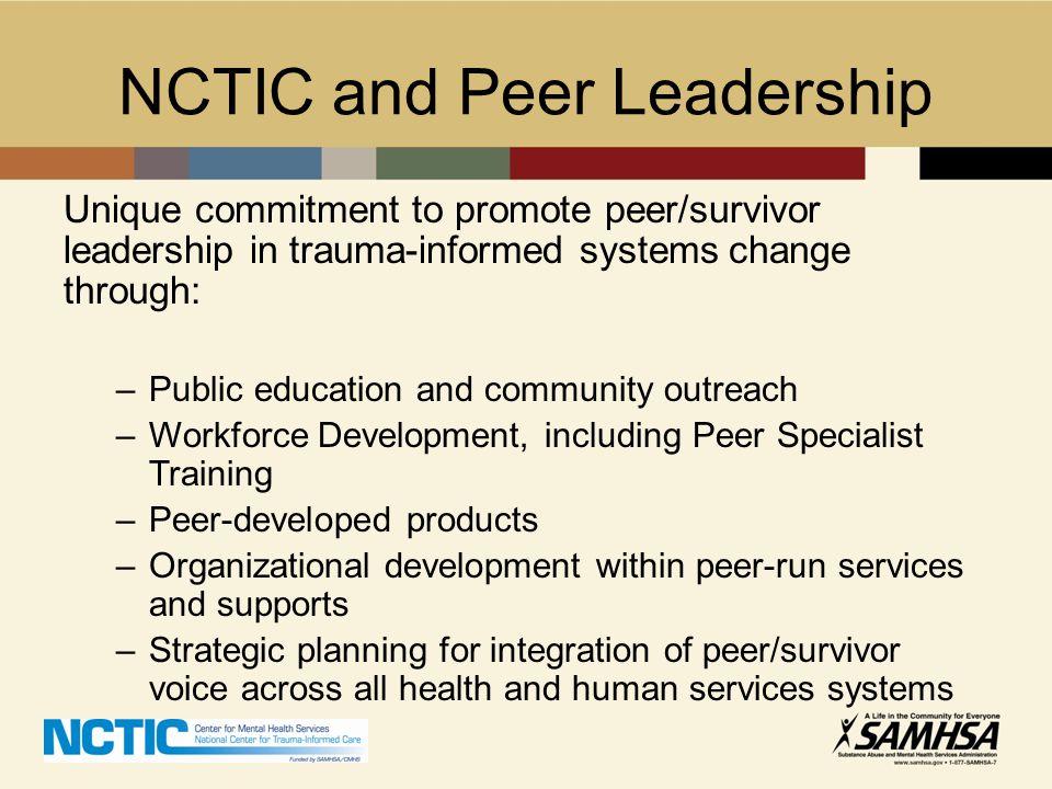 NCTIC and Peer Leadership