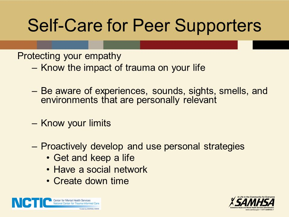 Self-Care for Peer Supporters
