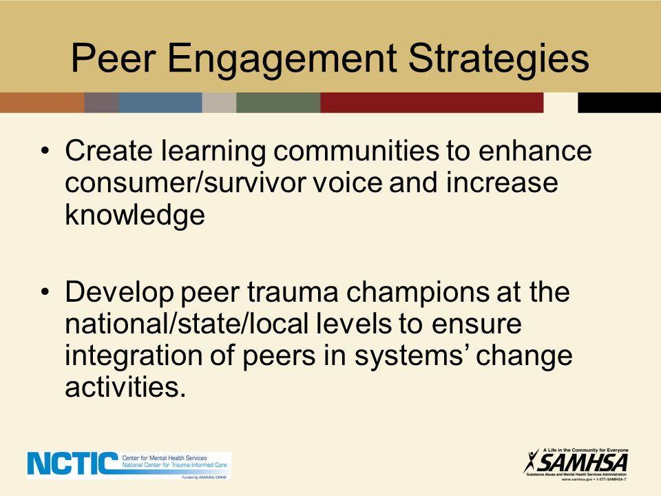Peer Engagement Strategies