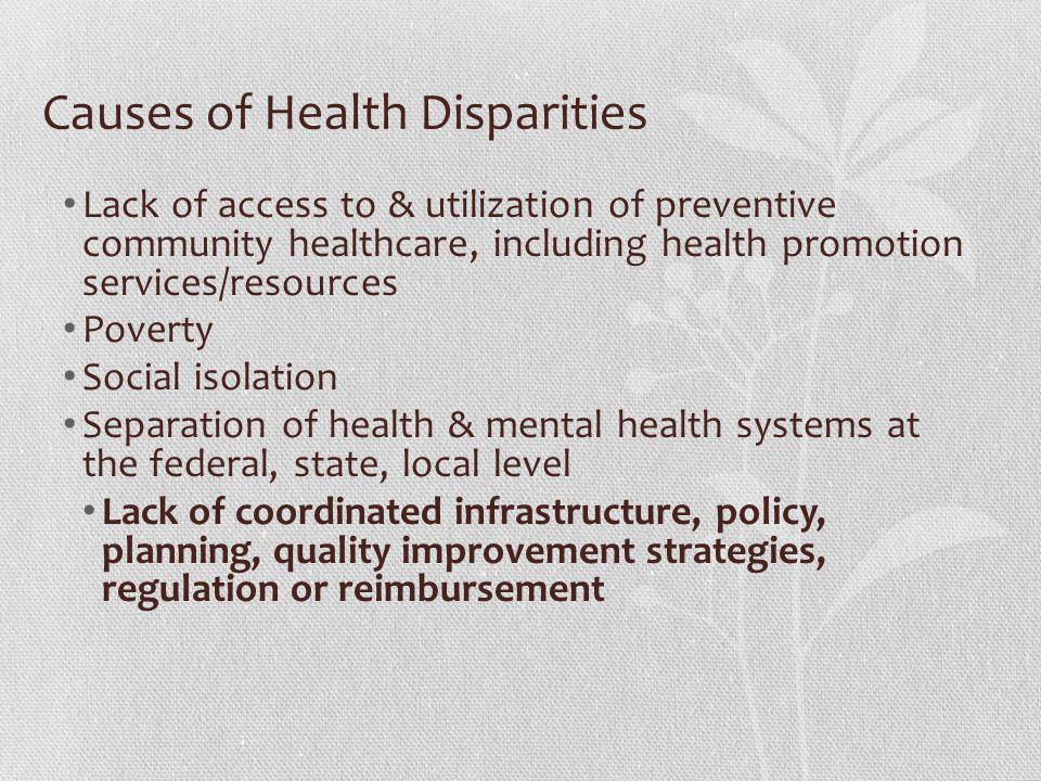 Causes of Health Disparities