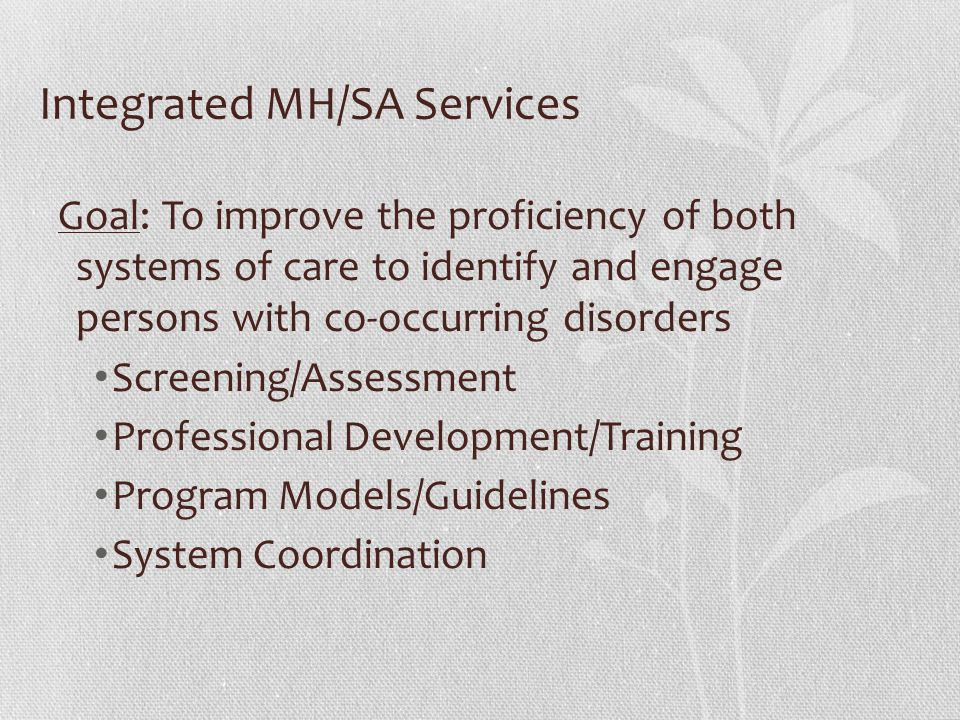 Integrated MH/SA Services