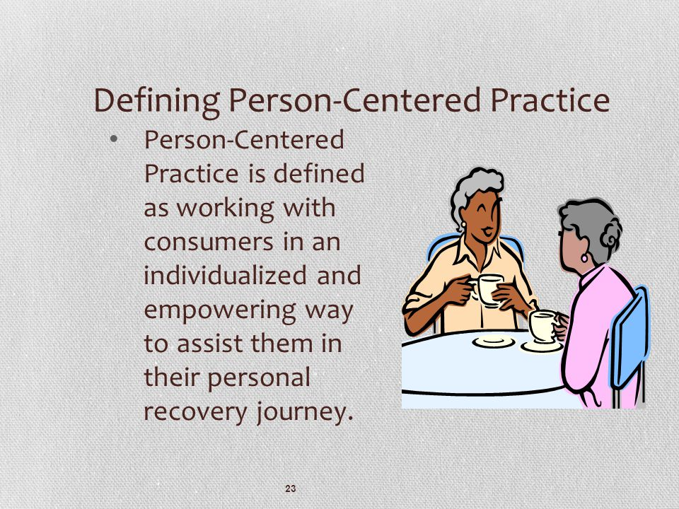 Defining Person-Centered Practice