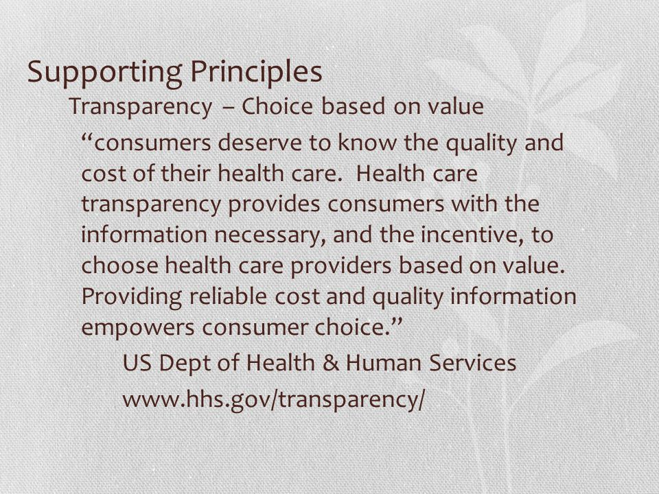 Supporting Principles
