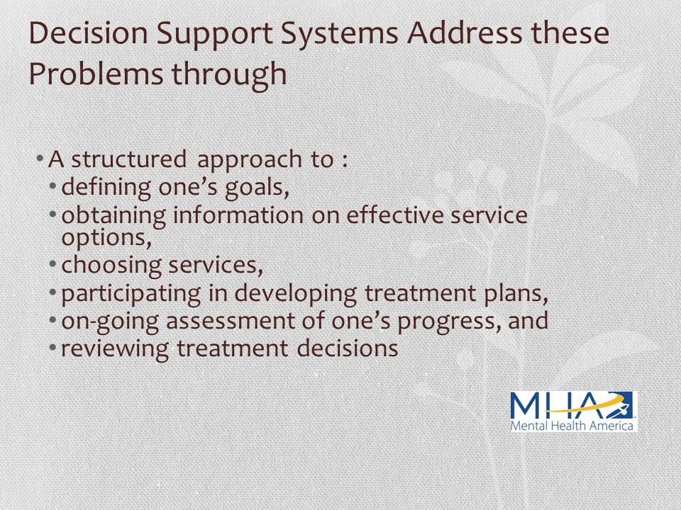 Decision Support Systems Address these Problems through