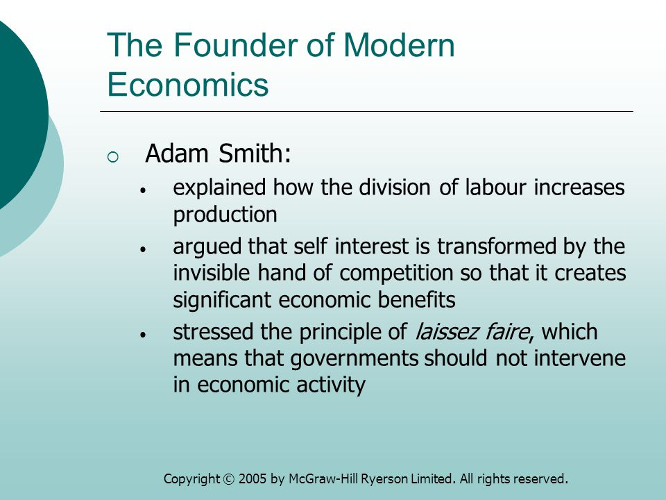 The Founder of Modern Economics