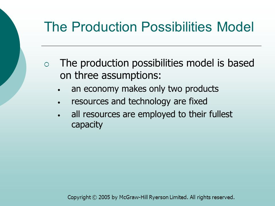 The Production Possibilities Model