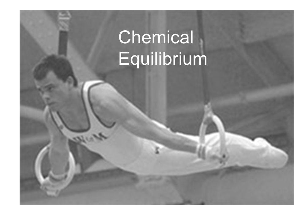 Chemical Equilibrium Equilibrium
