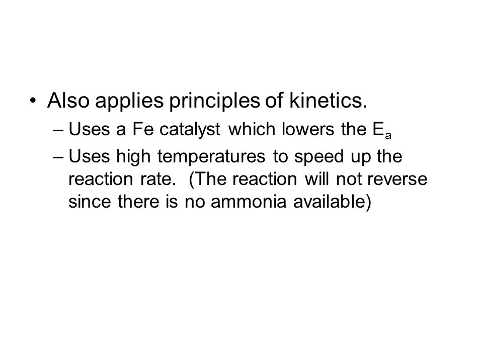 Also applies principles of kinetics.