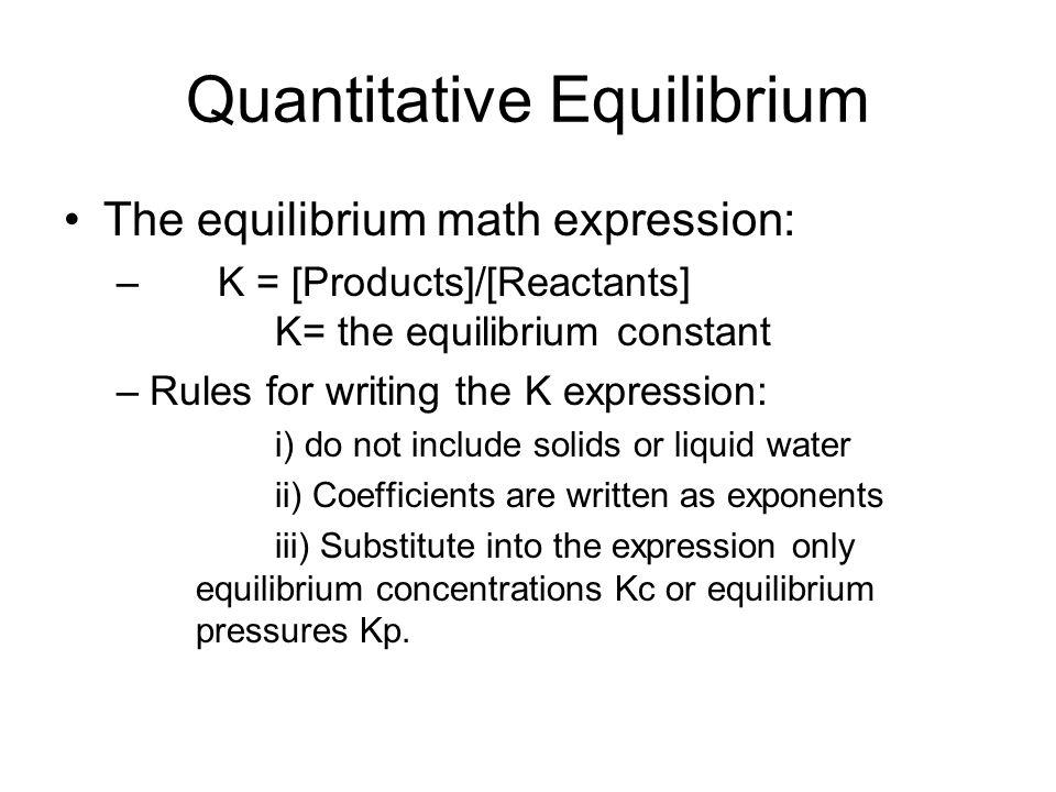 Quantitative Equilibrium