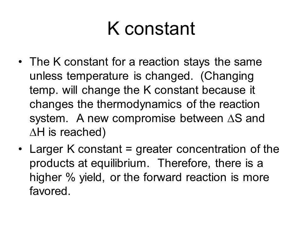 K constant