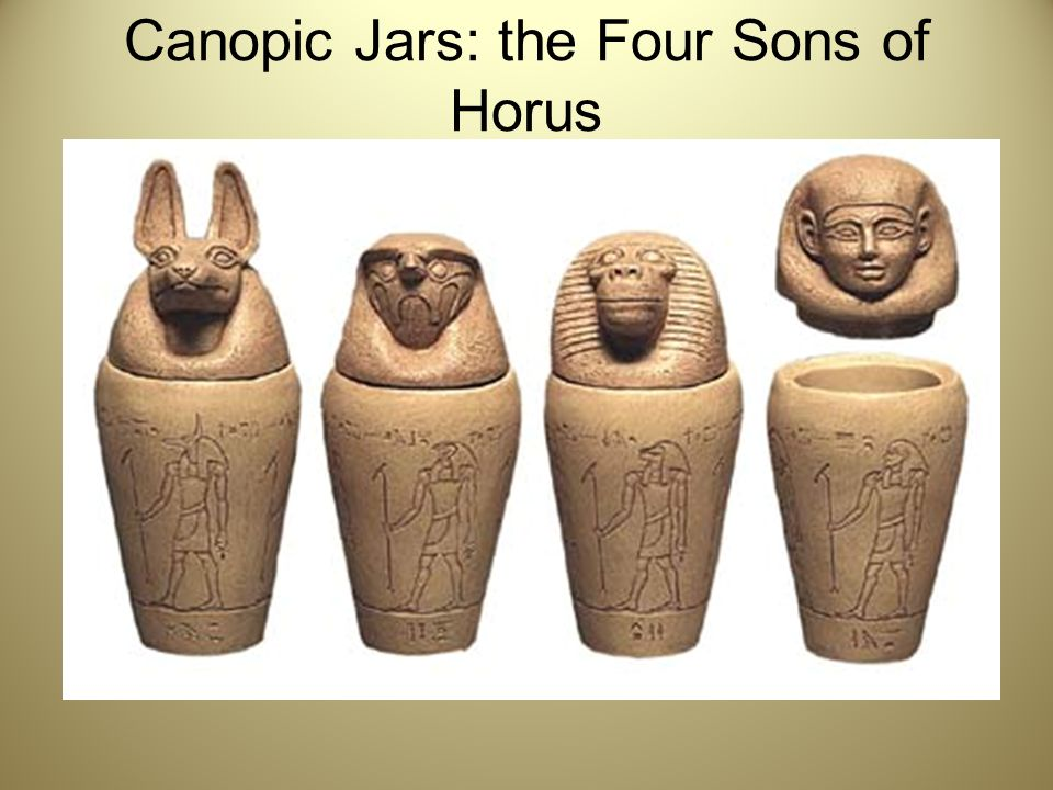 Canopic Jars: the Four Sons of Horus