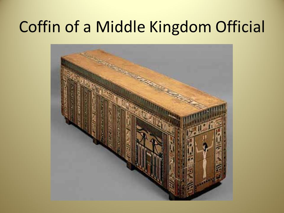 Coffin of a Middle Kingdom Official