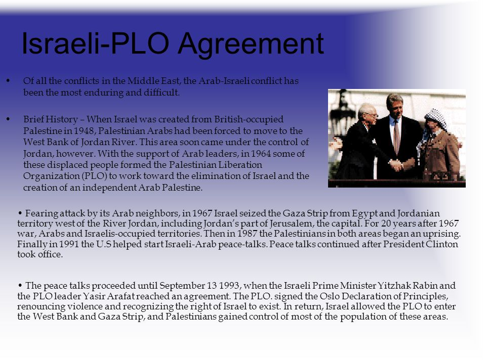 Israeli-PLO Agreement