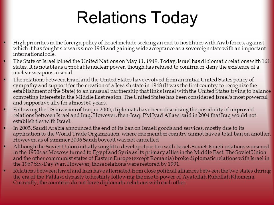 Relations Today
