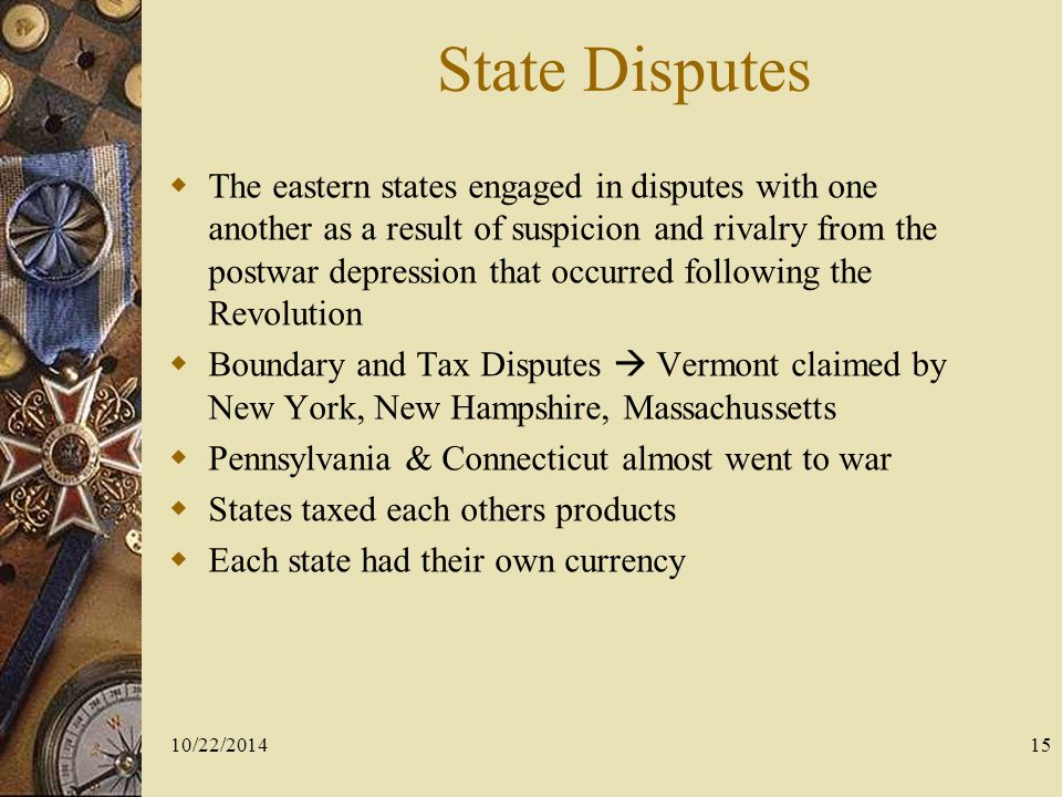 State Disputes