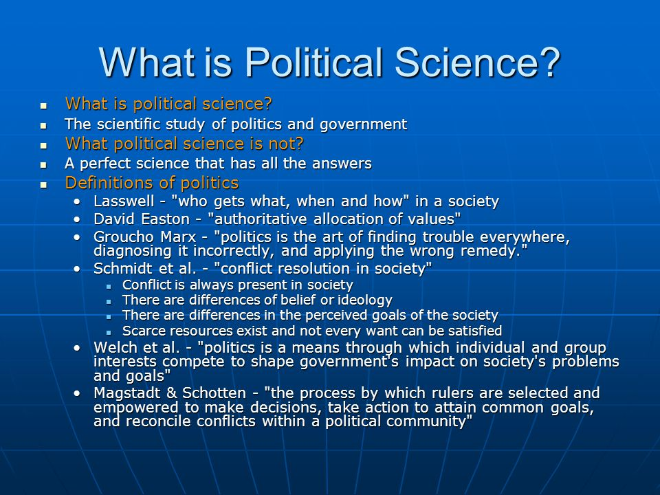 What is Political Science