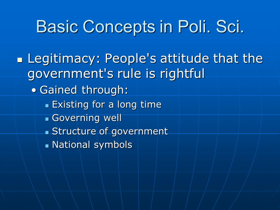 Basic Concepts in Poli. Sci.