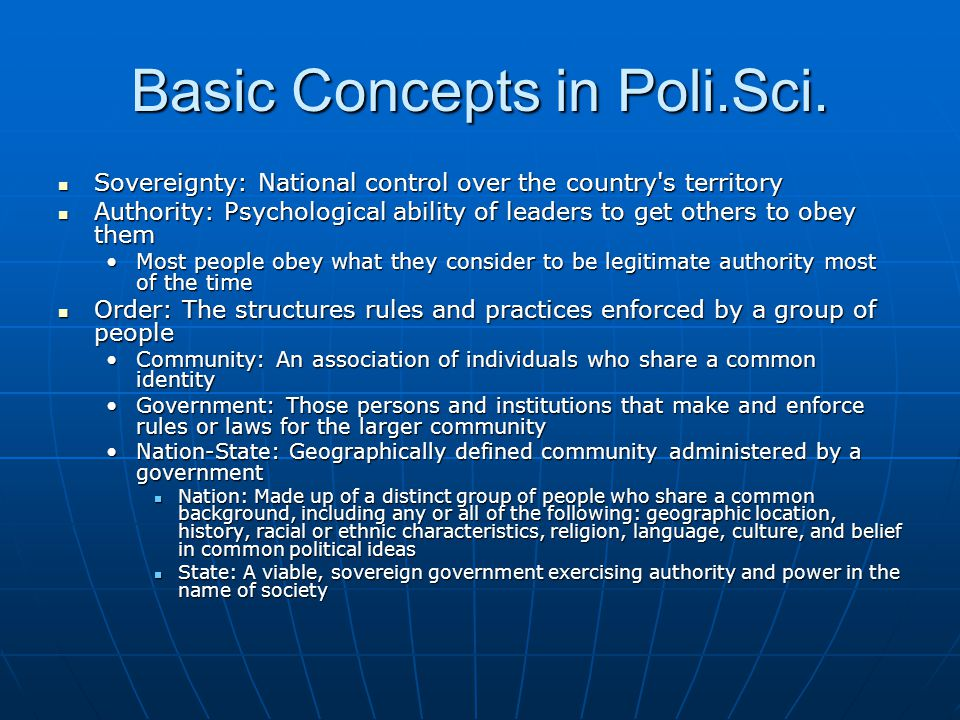 Basic Concepts in Poli.Sci.