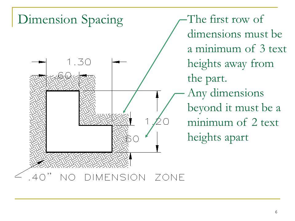 Dimension Spacing