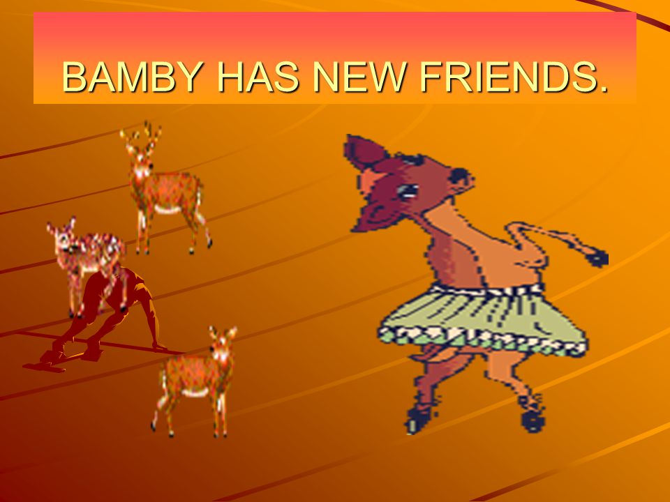 BAMBY HAS NEW FRIENDS.