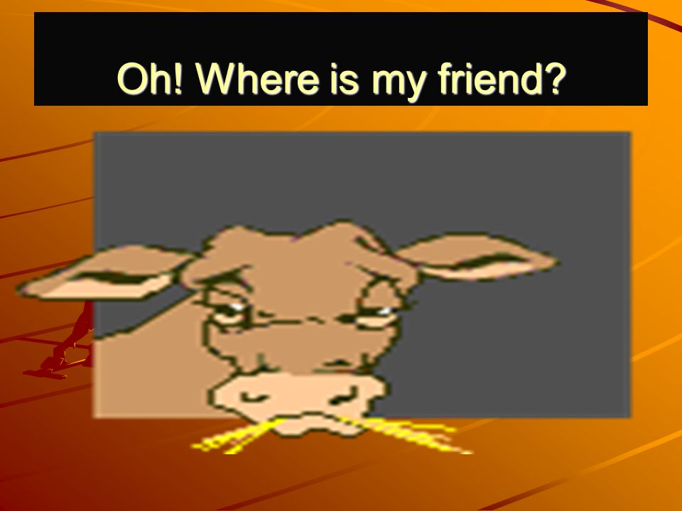 Oh! Where is my friend