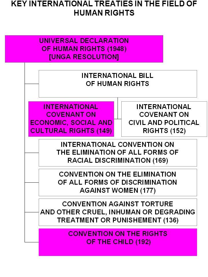 KEY INTERNATIONAL TREATIES IN THE FIELD OF HUMAN RIGHTS