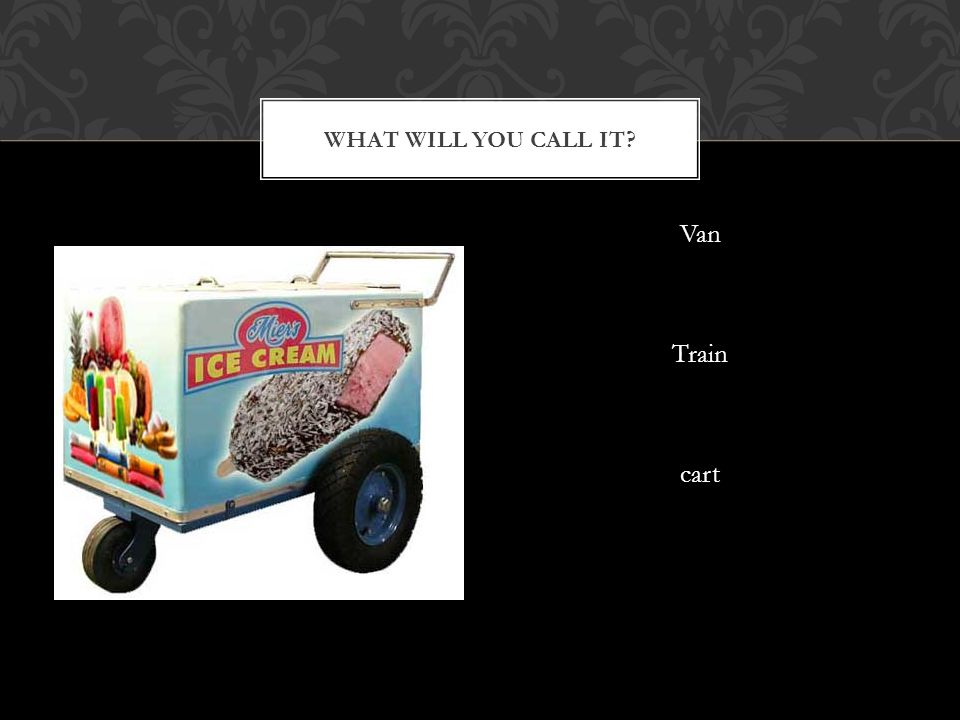 What will you call it Van Train cart