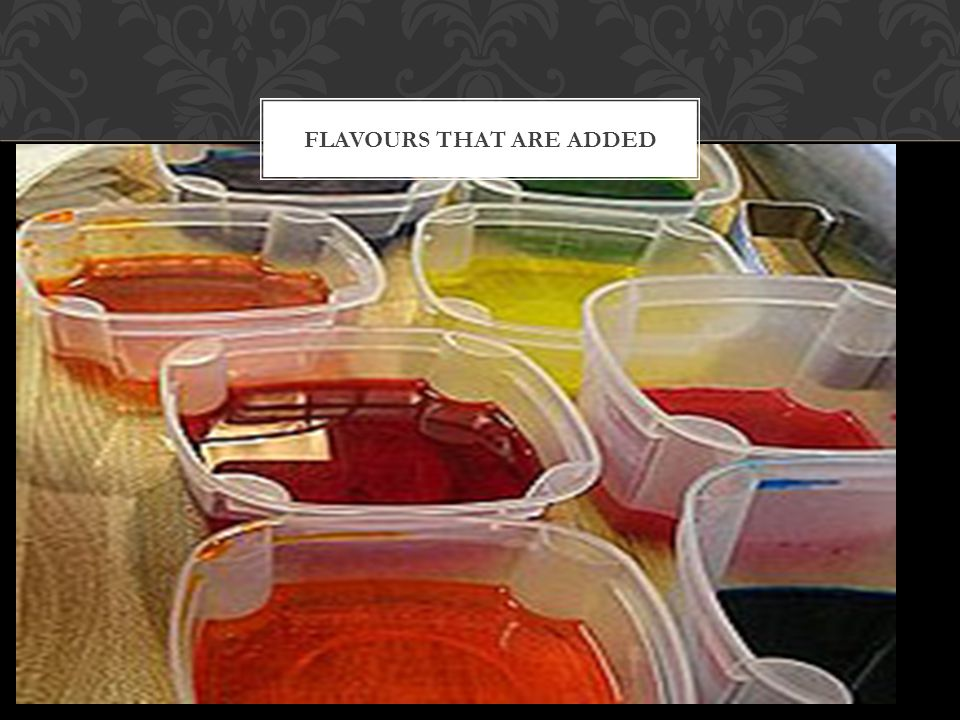 Flavours that are added