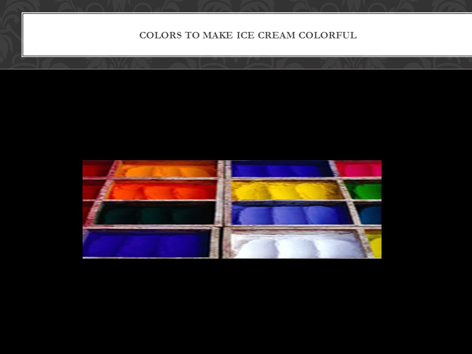 : colors to make ice cream colorful