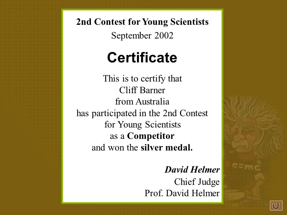 2nd Contest for Young Scientists