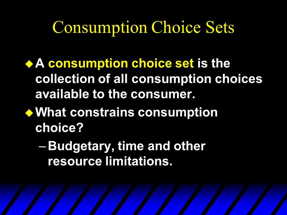 Consumption Choice Sets