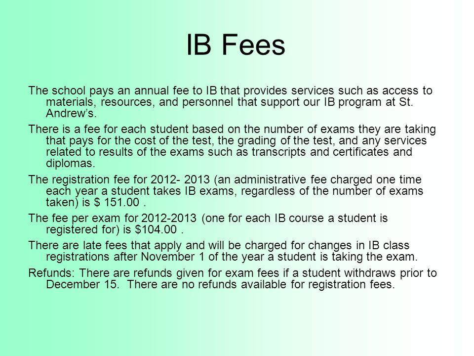 IB Fees