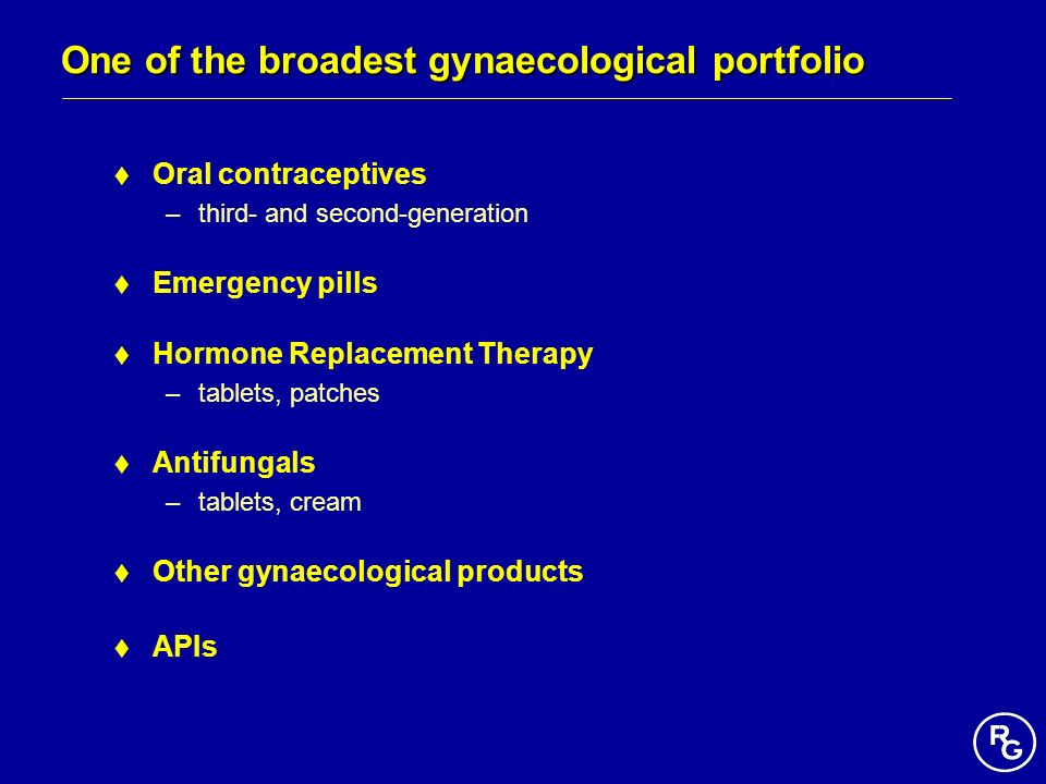 One of the broadest gynaecological portfolio