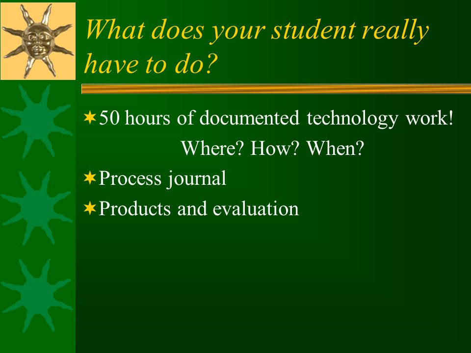 What does your student really have to do