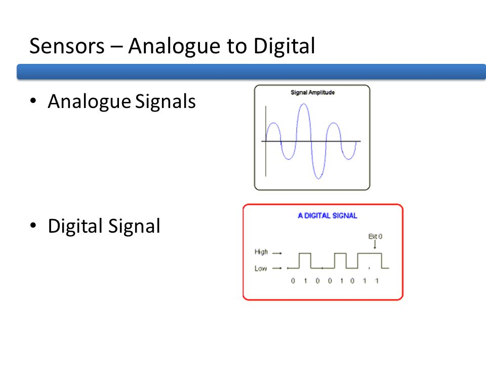 Sensors – Analogue to Digital