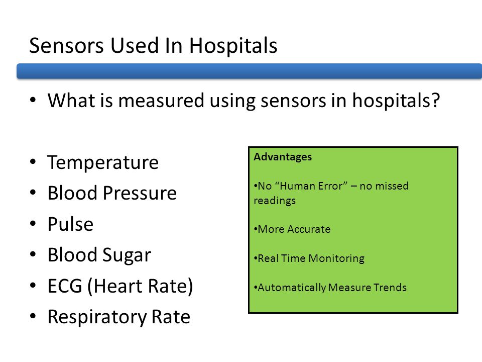 Sensors Used In Hospitals