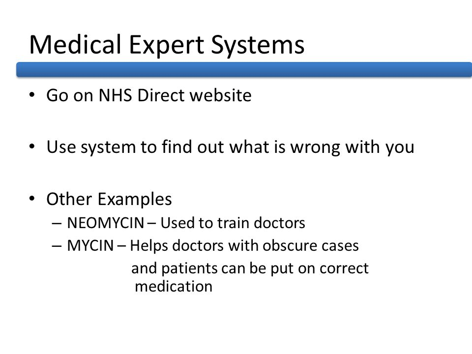 Medical Expert Systems