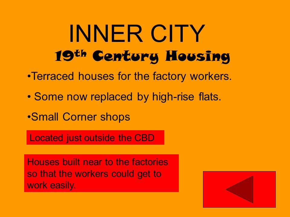 INNER CITY 19th Century Housing