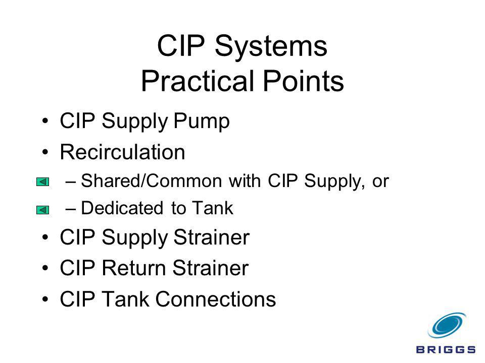 CIP Systems Practical Points