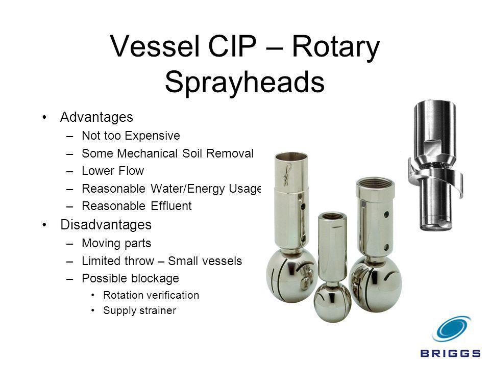 Vessel CIP – Rotary Sprayheads