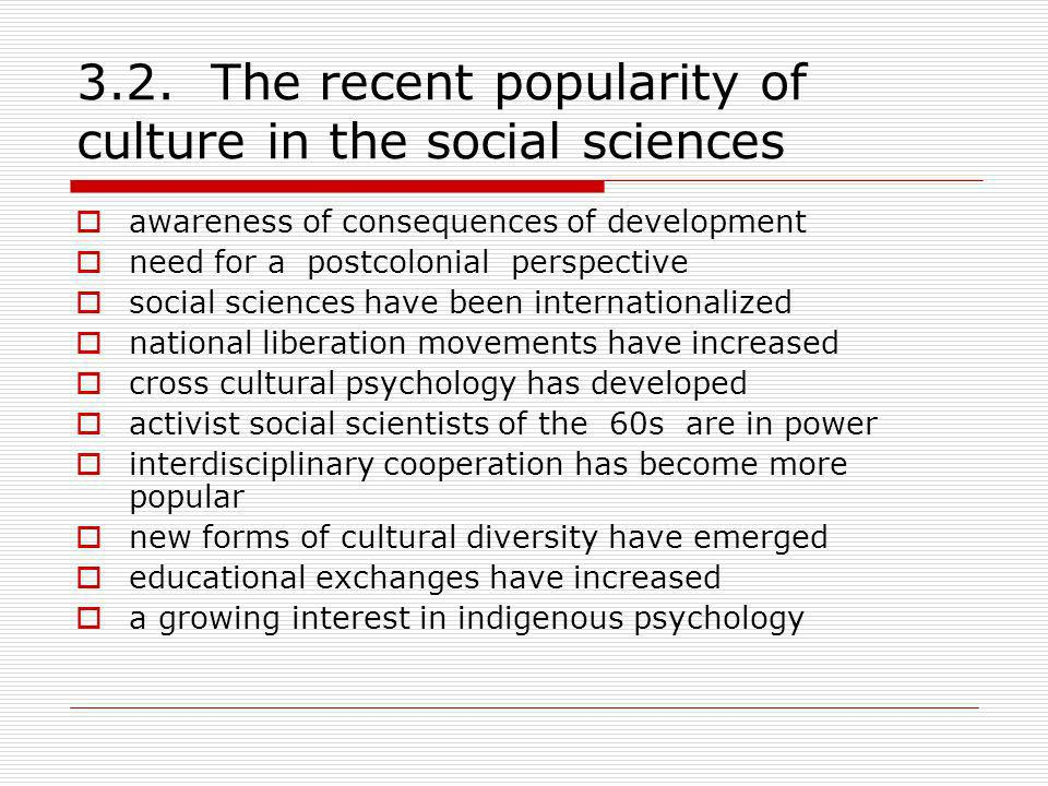 3.2. The recent popularity of culture in the social sciences