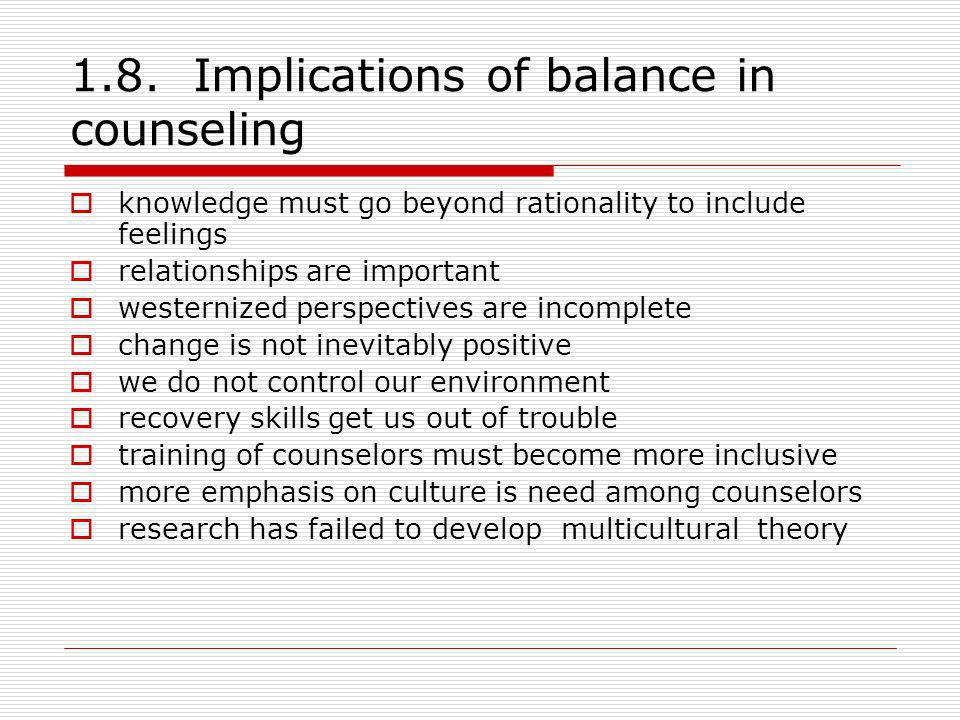 1.8. Implications of balance in counseling