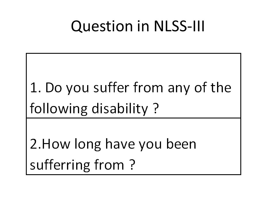 Question in NLSS-III