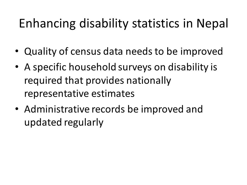 Enhancing disability statistics in Nepal