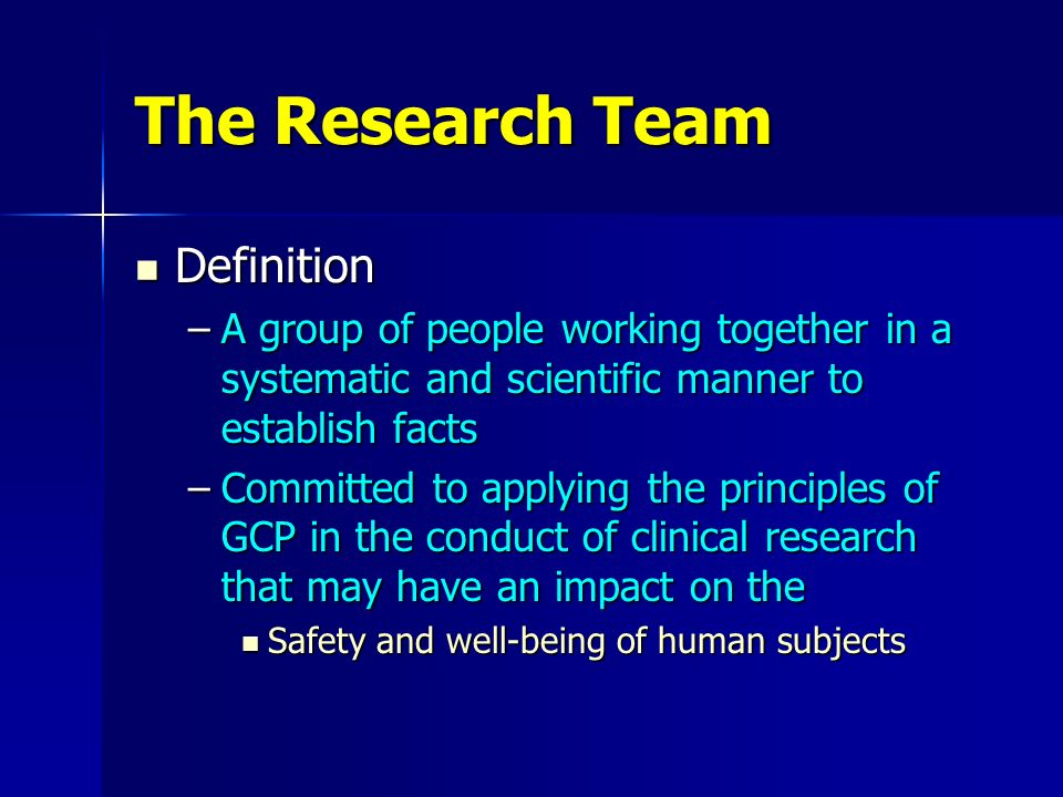 The Research Team Definition