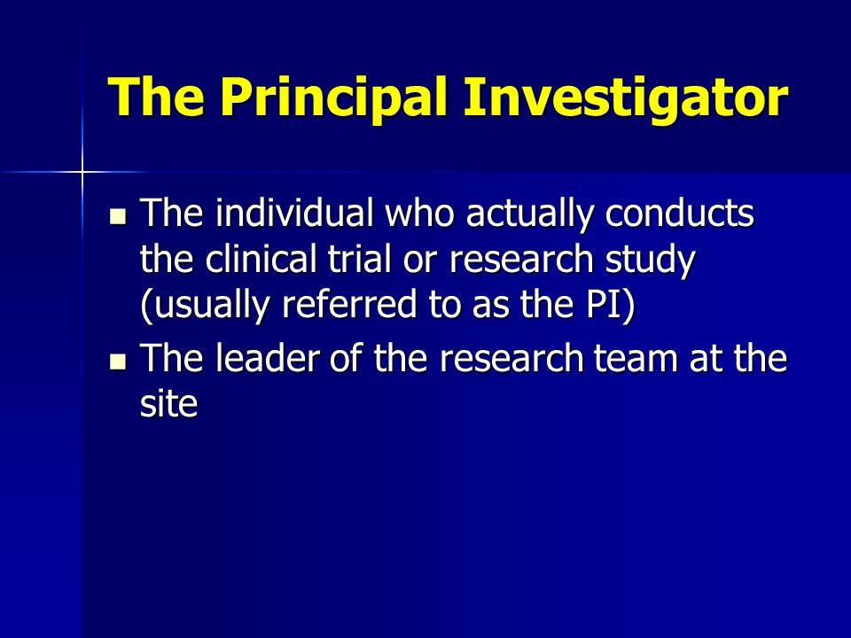 The Principal Investigator
