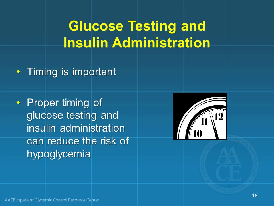 Glucose Testing and Insulin Administration