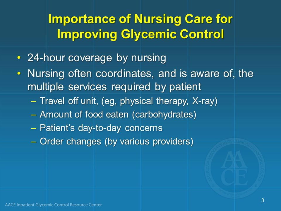 Importance of Nursing Care for Improving Glycemic Control