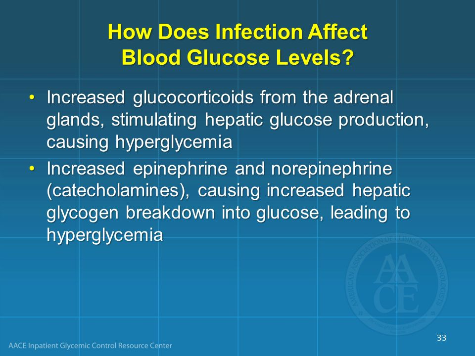 How Does Infection Affect Blood Glucose Levels