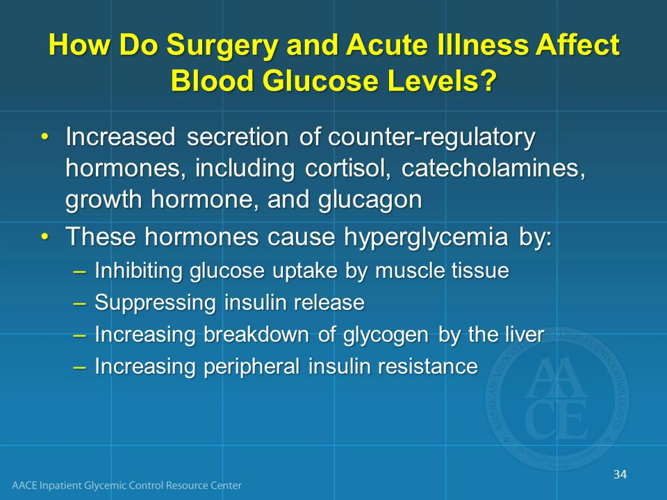 How Do Surgery and Acute Illness Affect Blood Glucose Levels